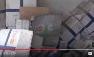 UNFPA's medical material amidst the destruction. المستلزمات الطبية الذي قدمها صندوق الأمم المتحدة للسكان وسط الدمار