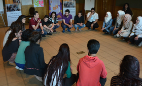 Engaging 24 young people on interactive theater techniques for young people organized by UNFPA.